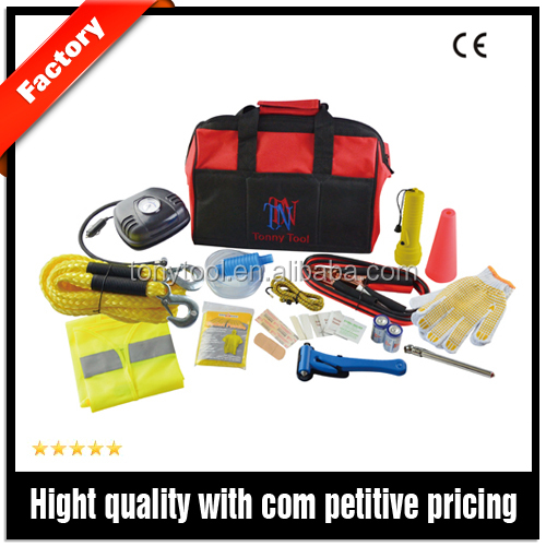 Auto Roadside safety emergency kit