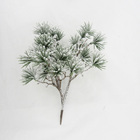 Snow finish artificial christmas branch for home decoration