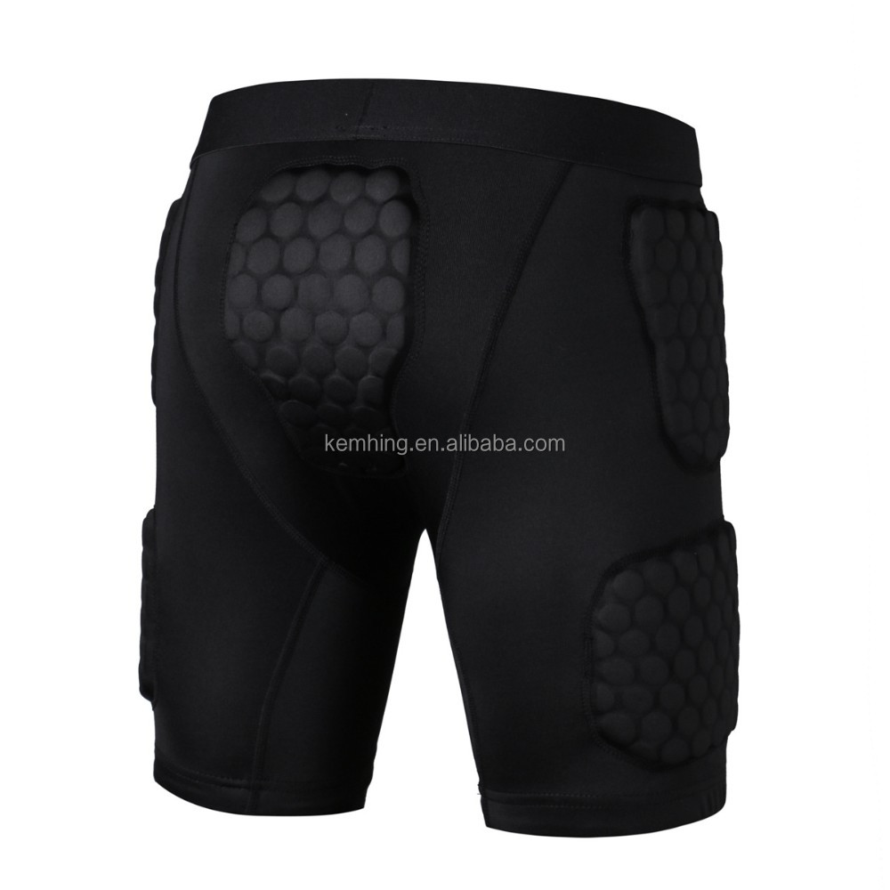 Men's safe guard sports wear protective gear Basketball Soccer Honeycomb Padded Shirts&short&elbow/knee sports wear men's