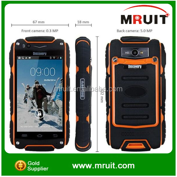 Waterproof phone Discovery V5 Rugged Android Smart Phone Shockproof Dustproof MTK6515 A9 CPU WiFi