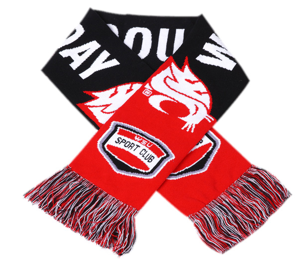 Good Quality Customized Football Fans Woven Scarf