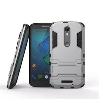 Wholesales Iron-Bear Rugged Hybrid Stand Shockproof Cell Phone Cases For Moto X Force