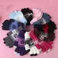 cony hair touch screen gloves for winter