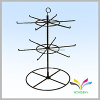 OEM Design Powder Coated Metal Wire Spinning display socks rack