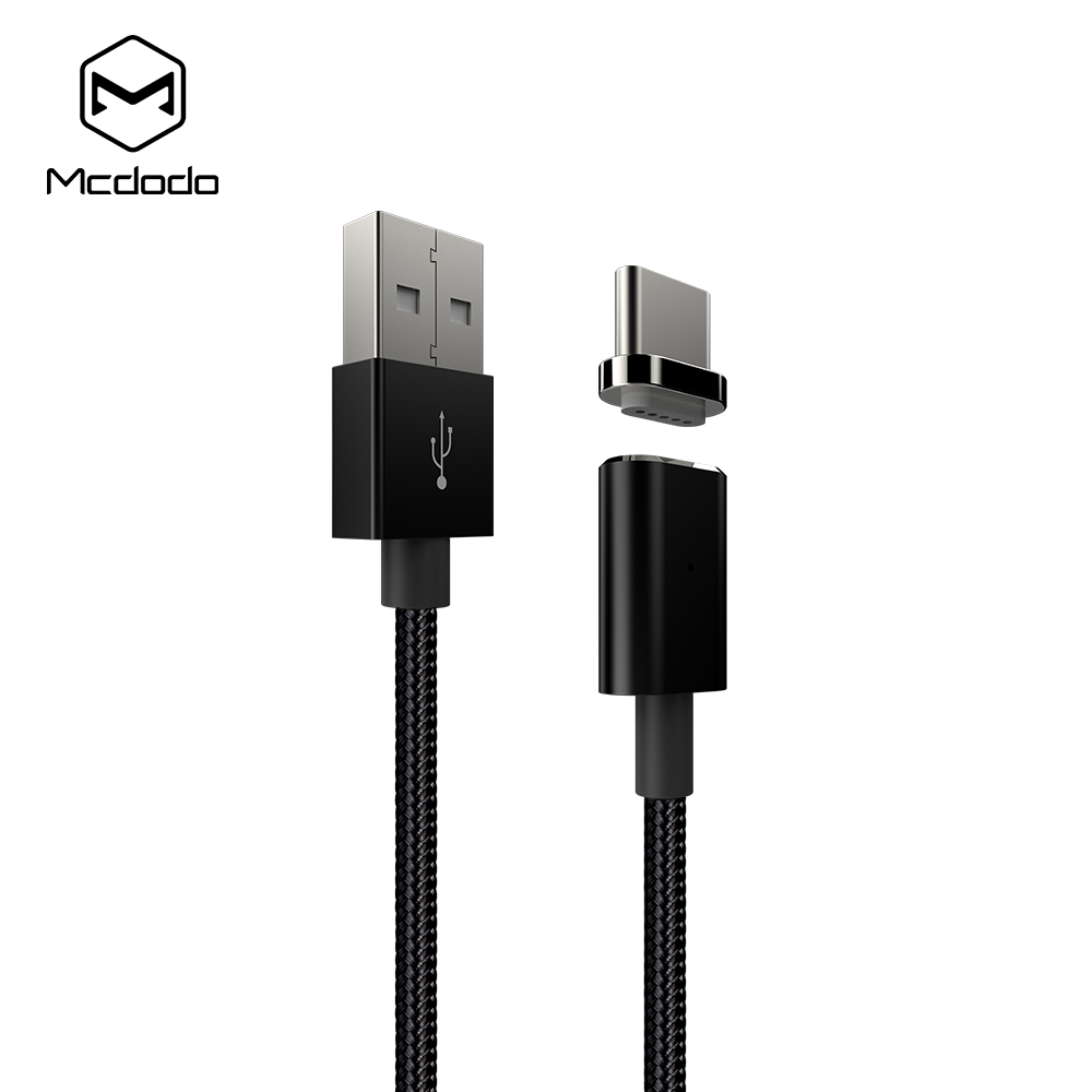 2.4A Fast Charging Detachable USB Type C Magnetic Nylon Fabric Cable
