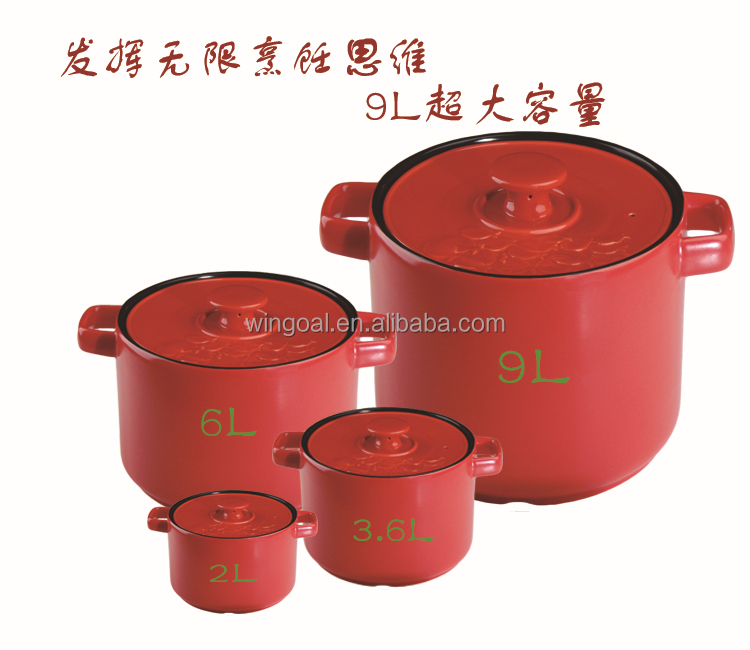 Chaozhou MUYAN stoneware cookware soup pot heat-resistant with flat lid