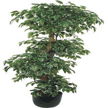 Tieredapproach artificial banyan tree bonsai decoration for family make in Dongguan