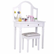 Dresser Parts Professional Table Makeup For Girls Wooden Table