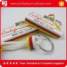 New cheap custom design cool eva key tags wholesales