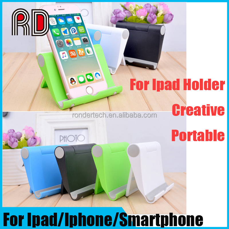 High Quality Portable Lazy Holder for Ipad Car Desktop Stand Mount tablet pc holder stand for smartphone