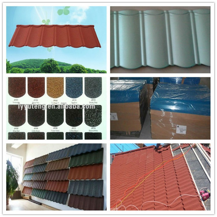 Plain Metal Roofing Sheet-Nigeria/kenya/Tanzania Stone Chip coated Steel Roof Tile