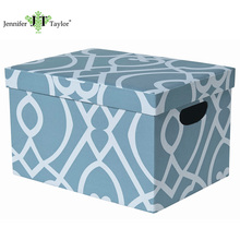 Home furniture storage organization paper holder, fabric upholstery document storage box, office stationery storage box with lid