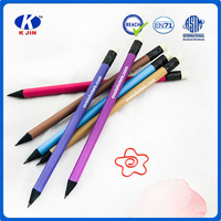 promotional black wooden HB pencil with eraser for teenager