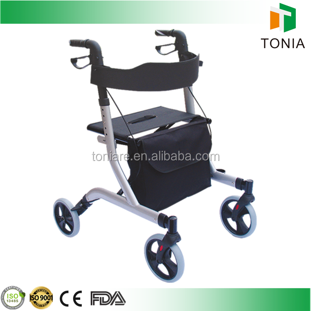 Best sell 4 wheel folding european rollator walking aids used indoor and outdoor