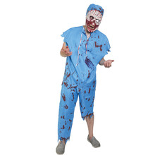 X-MERRY TOY Horror Zombie Doctor Costume Cosplay Party For Male Size Fancy Dress Accessories