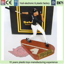 China making movable pvc vinyl figure, baseball player plastic action toy, Custom PVC Baseball players action figure,
