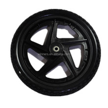 12 small plastic trailer wheel with axle