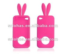 Cute Rabbit Ear Silicon Mobile Phone Cover