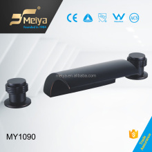 Black Plated 3-Hoe Brass Wash Basin Faucet From China