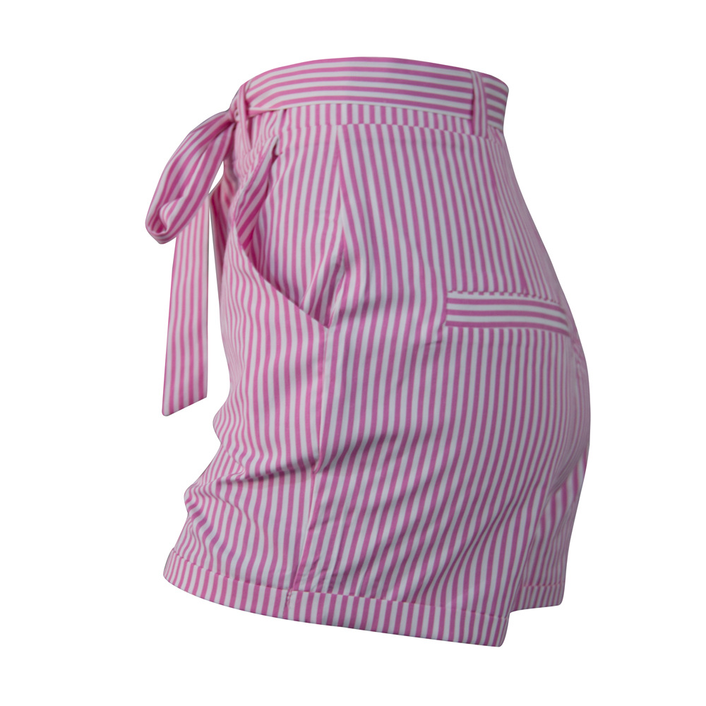 Stripe Bows Summer Shorts Cheap Women Icing Shorts Factory Price