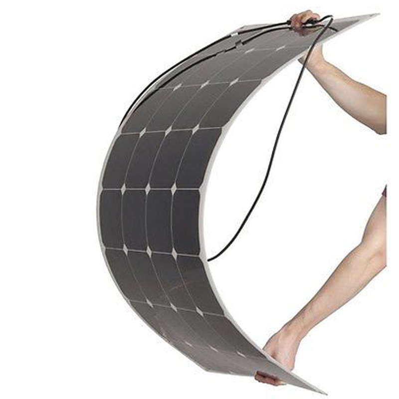 High Efficiency Thin Film Semi Flexible Solar Panel 100W Solar Panel Kits Roof Solar Panel