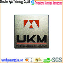 OEM manufacturing top branded emobssing aluminum nameplate with company logo