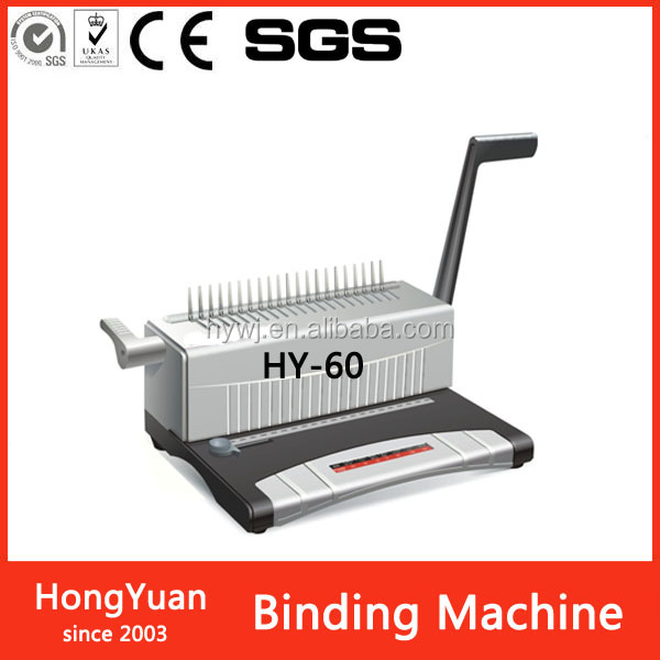 HY-60 hot sale Double Wire hole Plastic Coil hole Binding Comb hole Paper Punching Machine with CE