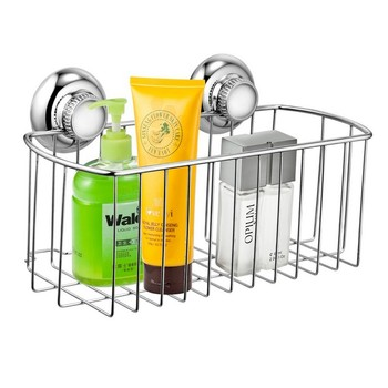 18/8 stainless steel suction storage rack basket