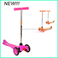 Child push scooter with three pu wheel for sale,pro kids scooter