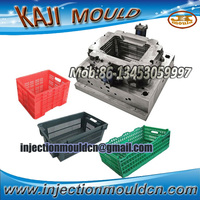 high quality automatic hard chrome HDPE plastic crate molds