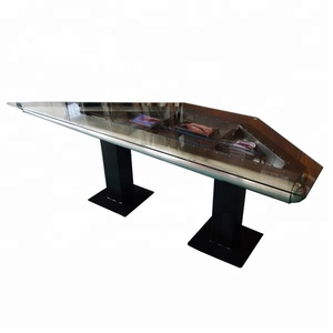 Aluminum Cover Vintage Style Metal Rivets Wing Desk For Office