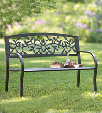 China wholesale factory direct cast aluminum garden bench,outdoor bench