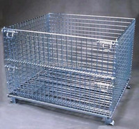Folding Steel Wire Pallet Cage for Warehouse Storage