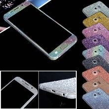 Glitter Diamond Full Body Phone Stickers for Samsung S5 i9600 Luxury Shiny Phone Case Cover for Galaxy S5 s6 Skin Phone