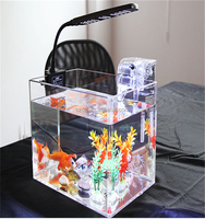 online shopping acrylic aquarium with Aquarium lighting