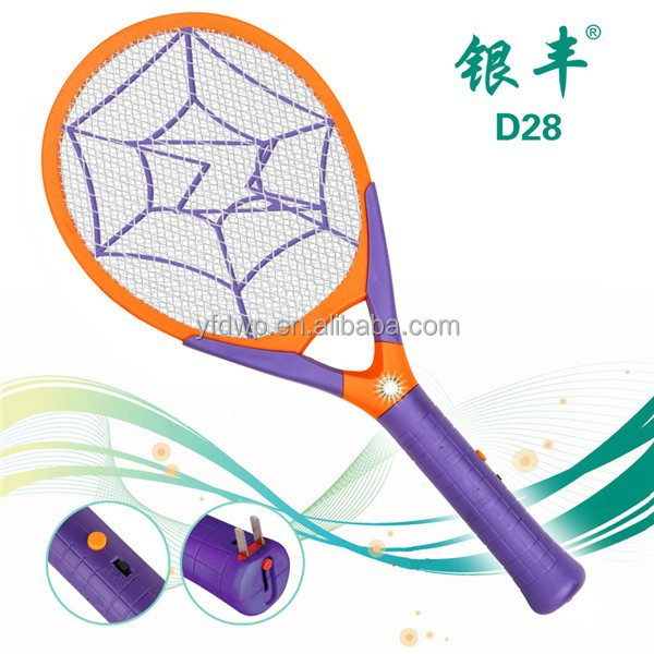 D28 Good quality convenient electric rechargeable mosquito bat, mosquito killing bat