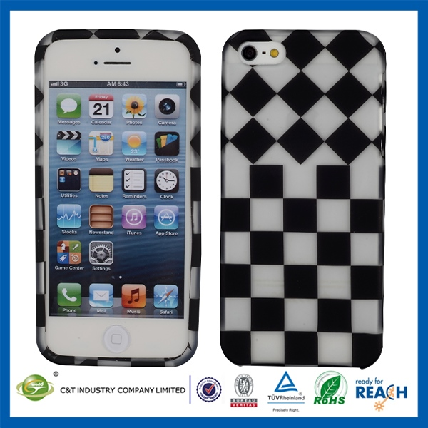 New design universal plastic case for iphone5 double colors bumper