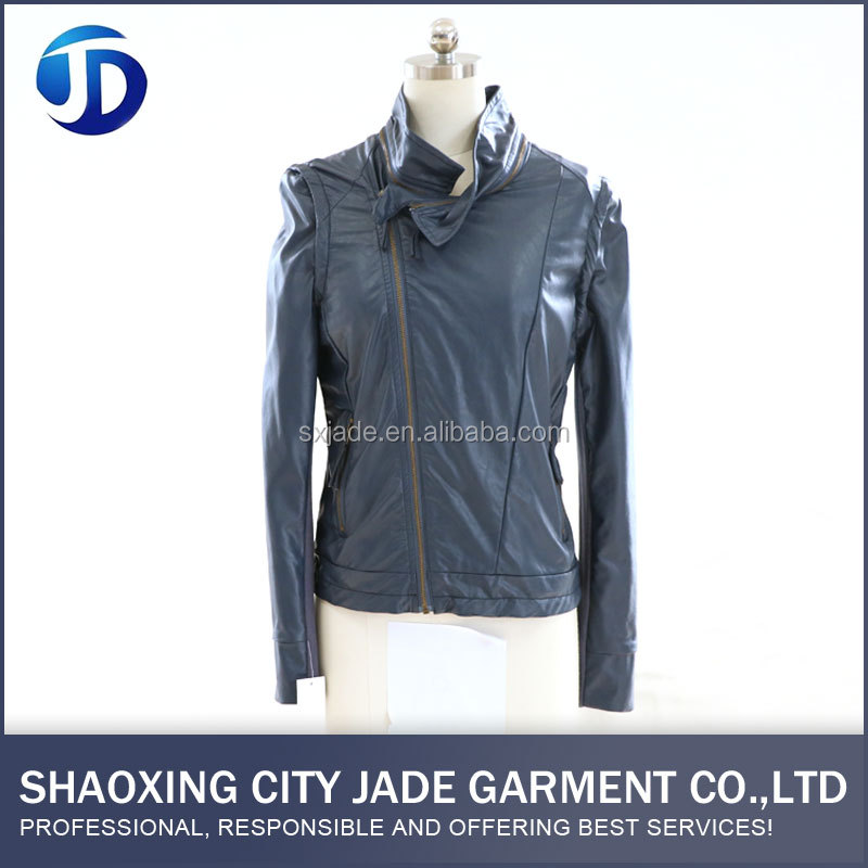 OEM ODM Service PU Wholesale Comfortable Leather Jacket For Women
