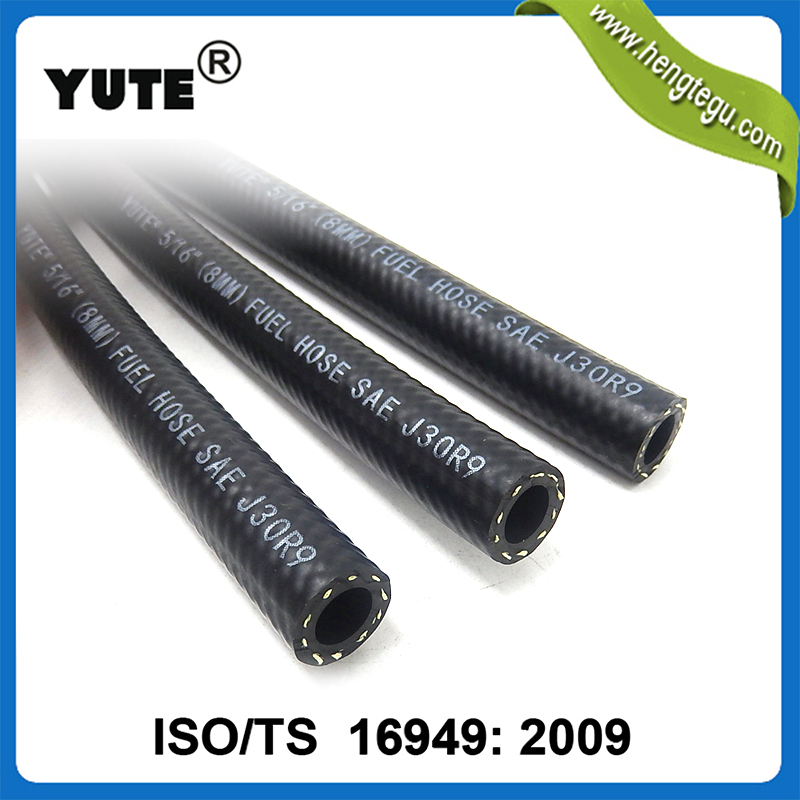 YUTE made auto parts 5/16 inch 8mm fuel systems sae 30 r7 oil hose with iso/ts 16949