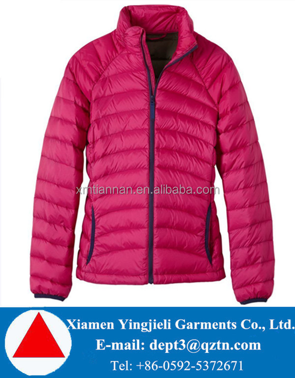 Factory direct sale fashion design women spring thin down jacket