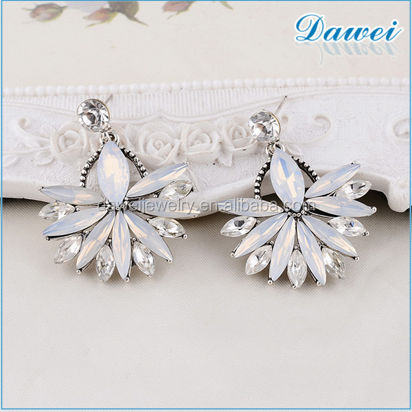 Fashion Rhinestone Bridal Earrings With Acrylic Stud Earring