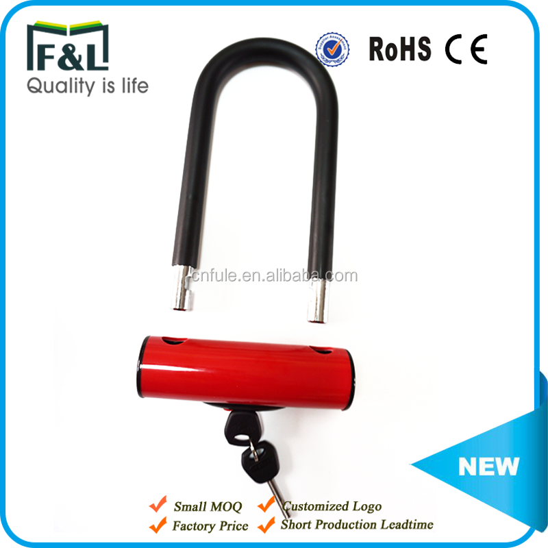 New Patent security system anti-theft heavy duty office door mountain bicycle U lock motorcycle lock