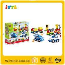 New kids toy INTELLIGENT BLOCKS--CHANGELFUL CARTOON CAR 60PCS mini building block toy diy product building block set