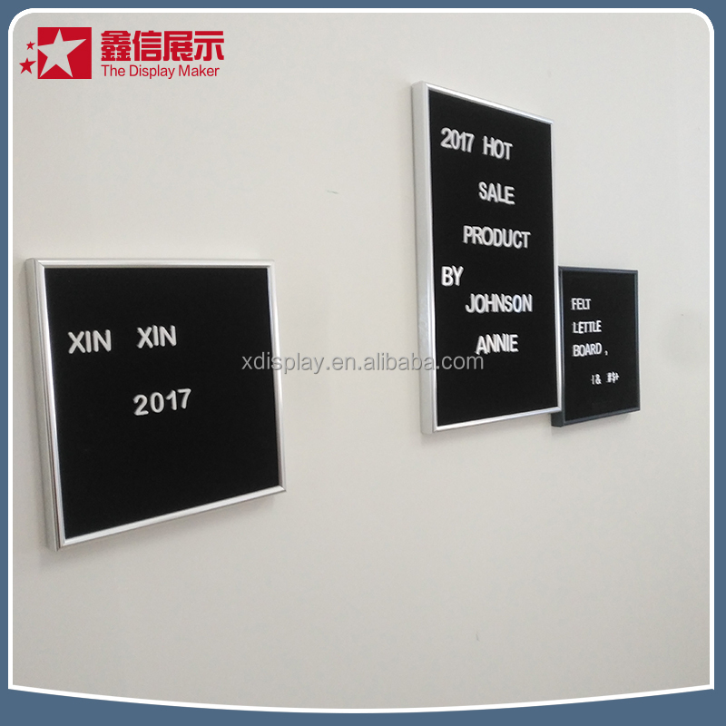 10*10 changeable felt letter board products with black felt /18mm wooden frame letter boards felt