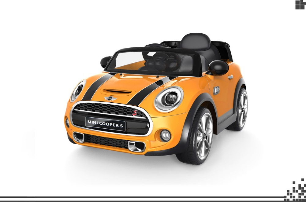 2016 License MINI COOPER electric car for baby, cheaper kids RC ride on car