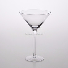 Hot Selling Mouth Blown Handmade Glassware Clear Martini Glass