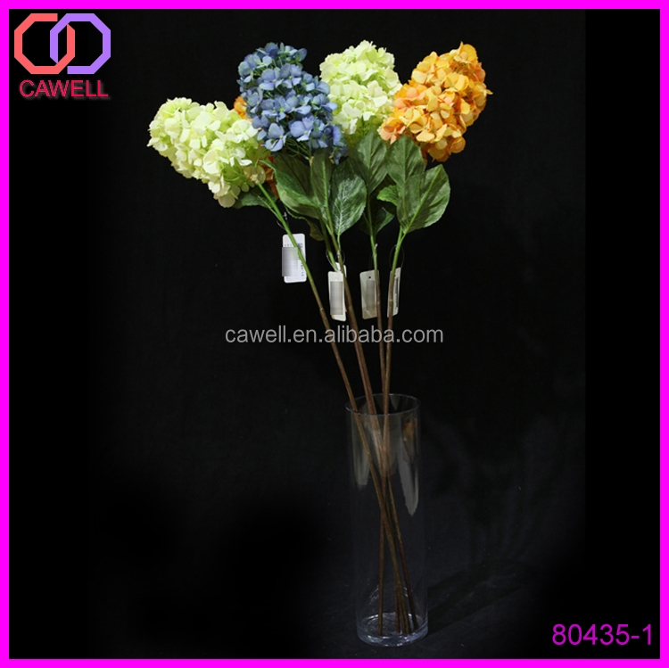 "home decoration 40"" long stem stocks flower plastic hydrangea"