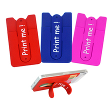 new design Eco-friendly 3m silicone cell phone back pouch