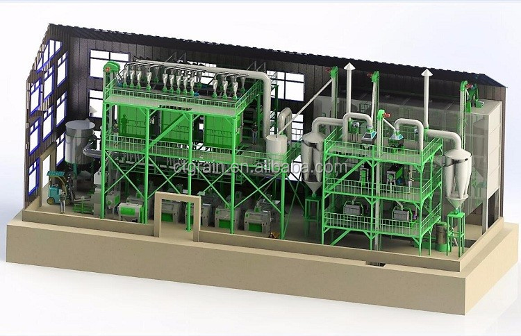 "Rice and wheat milling flour mill plant ""flour mill process"""