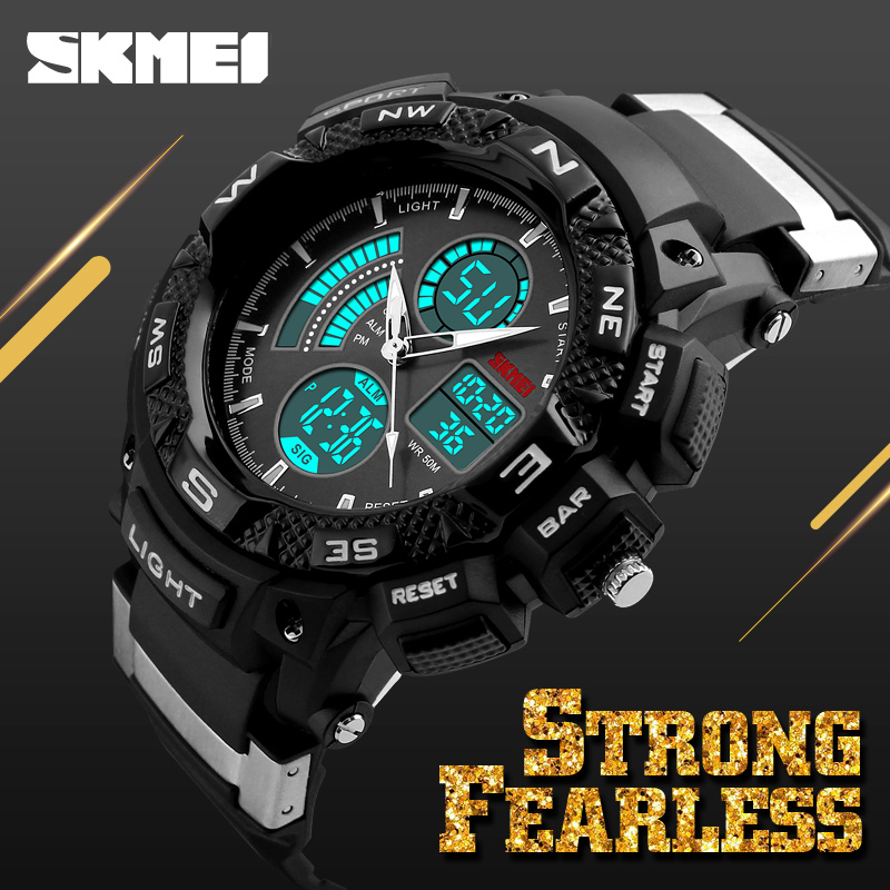 2017 newest skmei model 1211 cheap plastic waterproof men sport outdoor fashion digital black watch in bulk wholesale